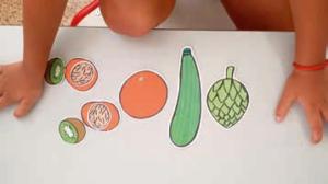 Juego infantil sobre alimentación